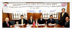 Agreement for Korean and International Energy Projects