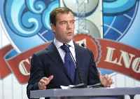 Russia's first LNG plant opened by President Medvedev - Sakhalin II LNG will supply about 5% of the world's LNG.